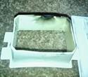 Burned up receptacle casing
