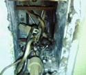 Burned out electrical receptacle - fire hazard behind your walls
