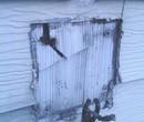 Fire Damaged Electrical Meter Housing